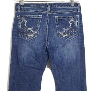 Wrangler Rock 47 Low Rise Jeans Bootcut Studded